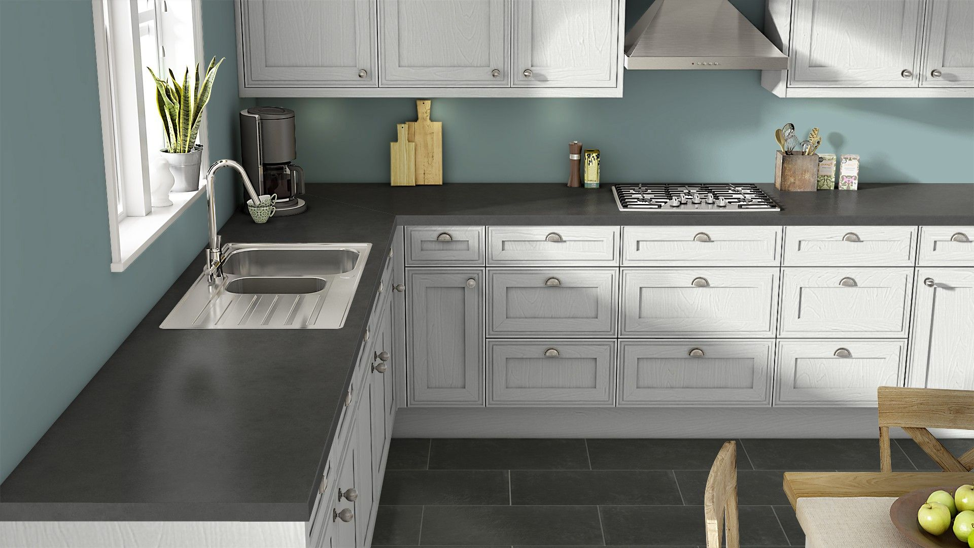 Get Inspired For Your Kitchen Renovation With Wilsonart S Free Visualizer Visualizapro Counter Is Oiled Soapstone Standard Laminate