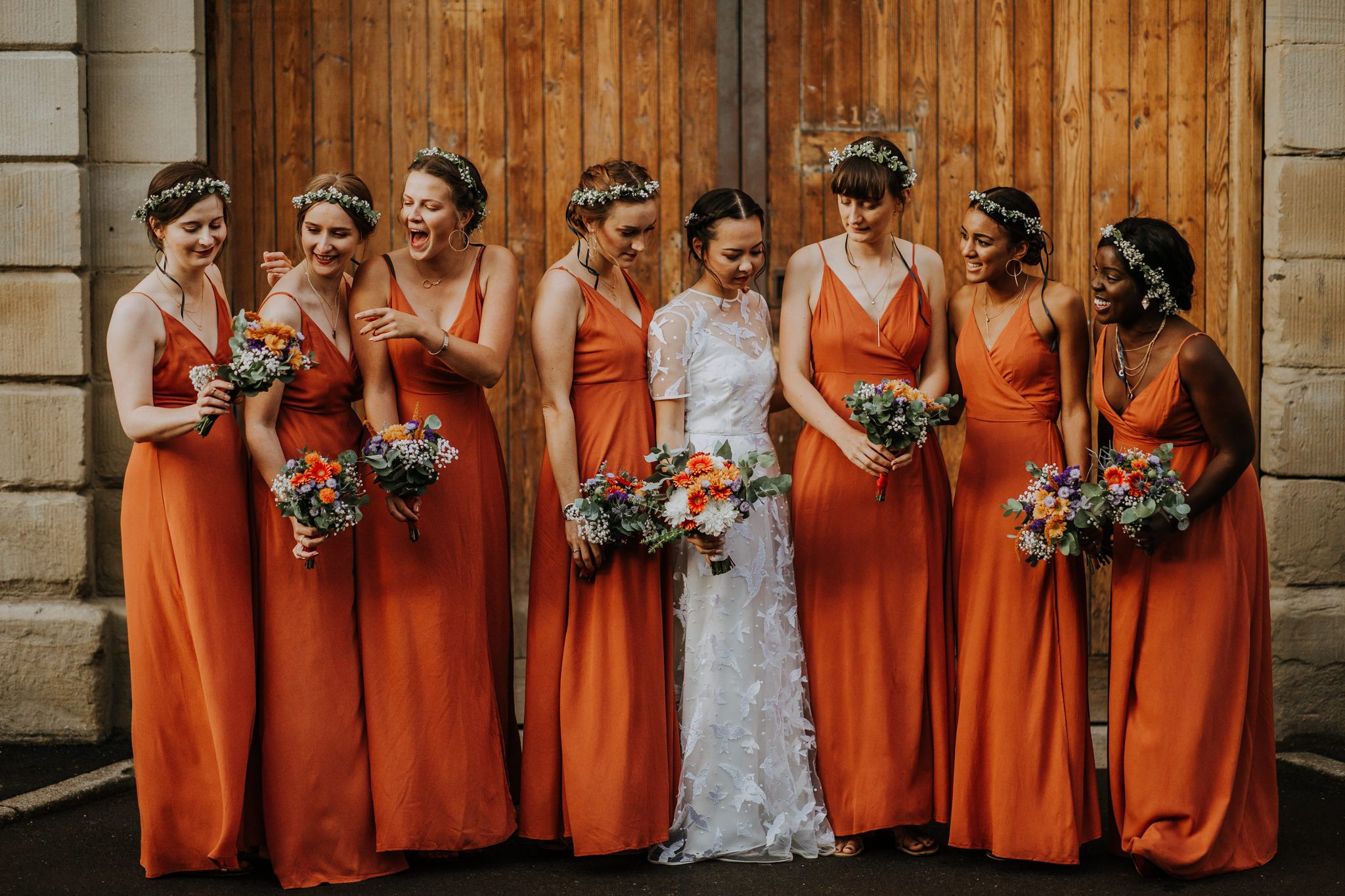 Rust Terracotta Burnt Orange Bridesmaids Dresses The Mowbray Sheffield Orange Bridesmaid Dresses Burnt Orange Bridesmaid Dresses Rust Bridesmaid Dress