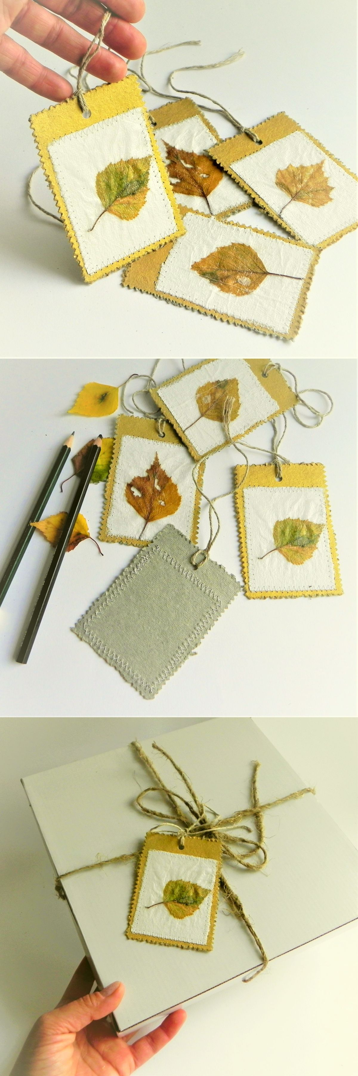 Autumn leaves tags