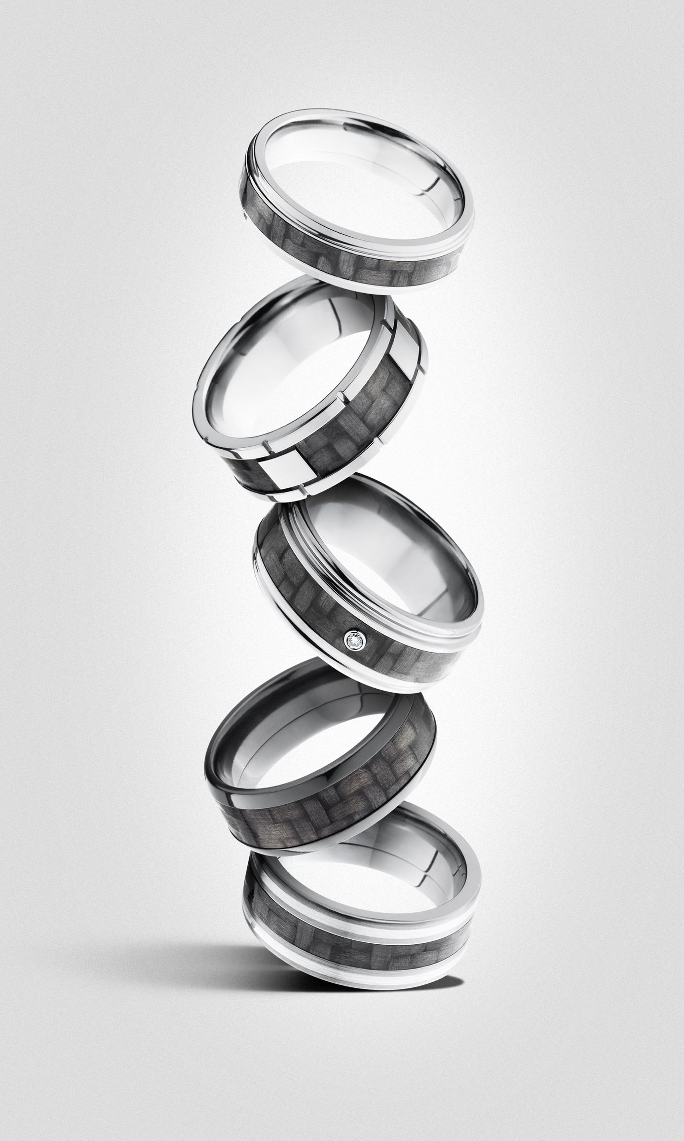 Carbon fiber men's rings by Lashbrook | Jewelry For Him