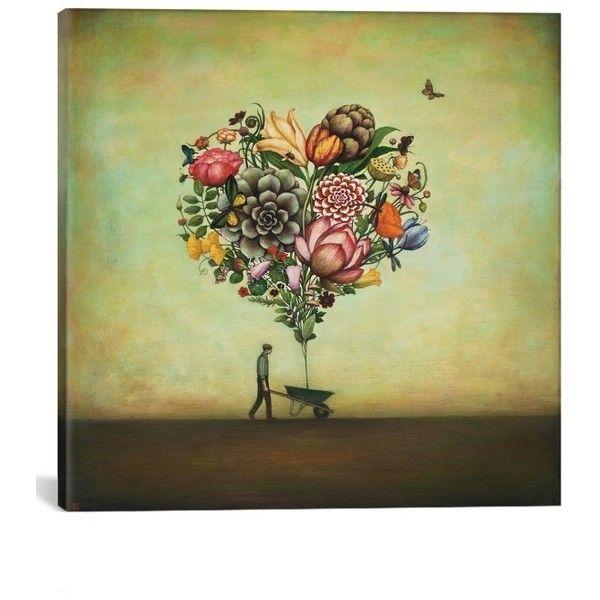 Icanvas \'Big Heart Botany\' Giclee Print Canvas Art (€100) ❤ liked ...