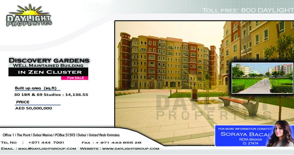 2ef73fb5a6c61a52bc9a962638b347d1 - Studio Apartment For Sale In Discovery Gardens Dubai