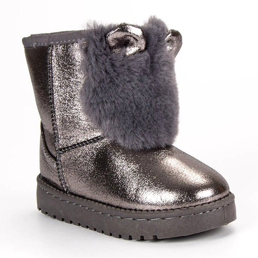 Kozaki Dla Dzieci Vinceza Vinceza Szare Srebrne Sniegowce Z Futerkiem Ugg Boots Boots Uggs