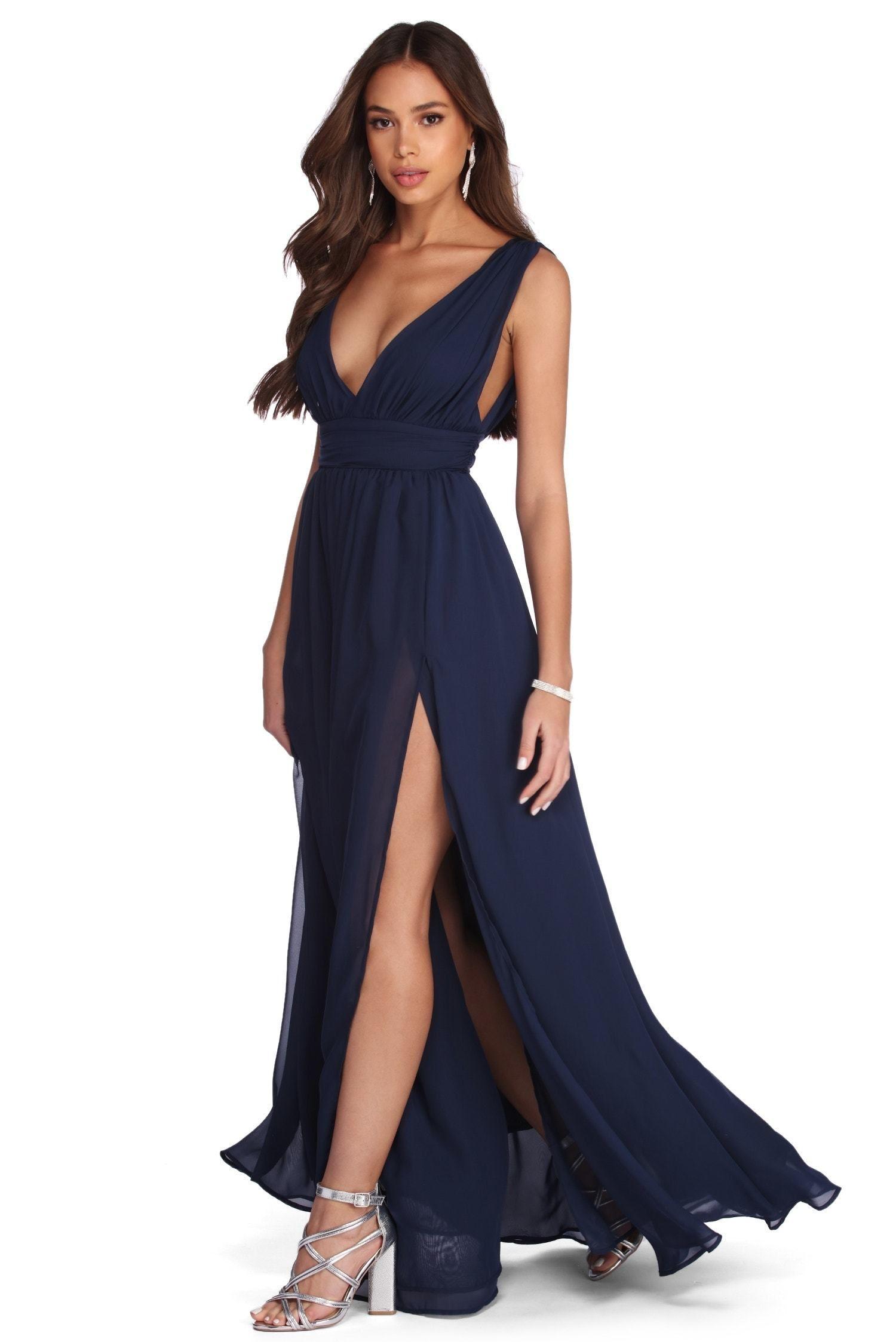 Reese Formal Layered Chiffon Dress Layered Chiffon Dress Dresses Chiffon Dress [ 2247 x 1500 Pixel ]