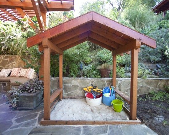 Build A Sandbox Design, Pictures, Remodel, Decor And Ideas...the Girls Need  This.