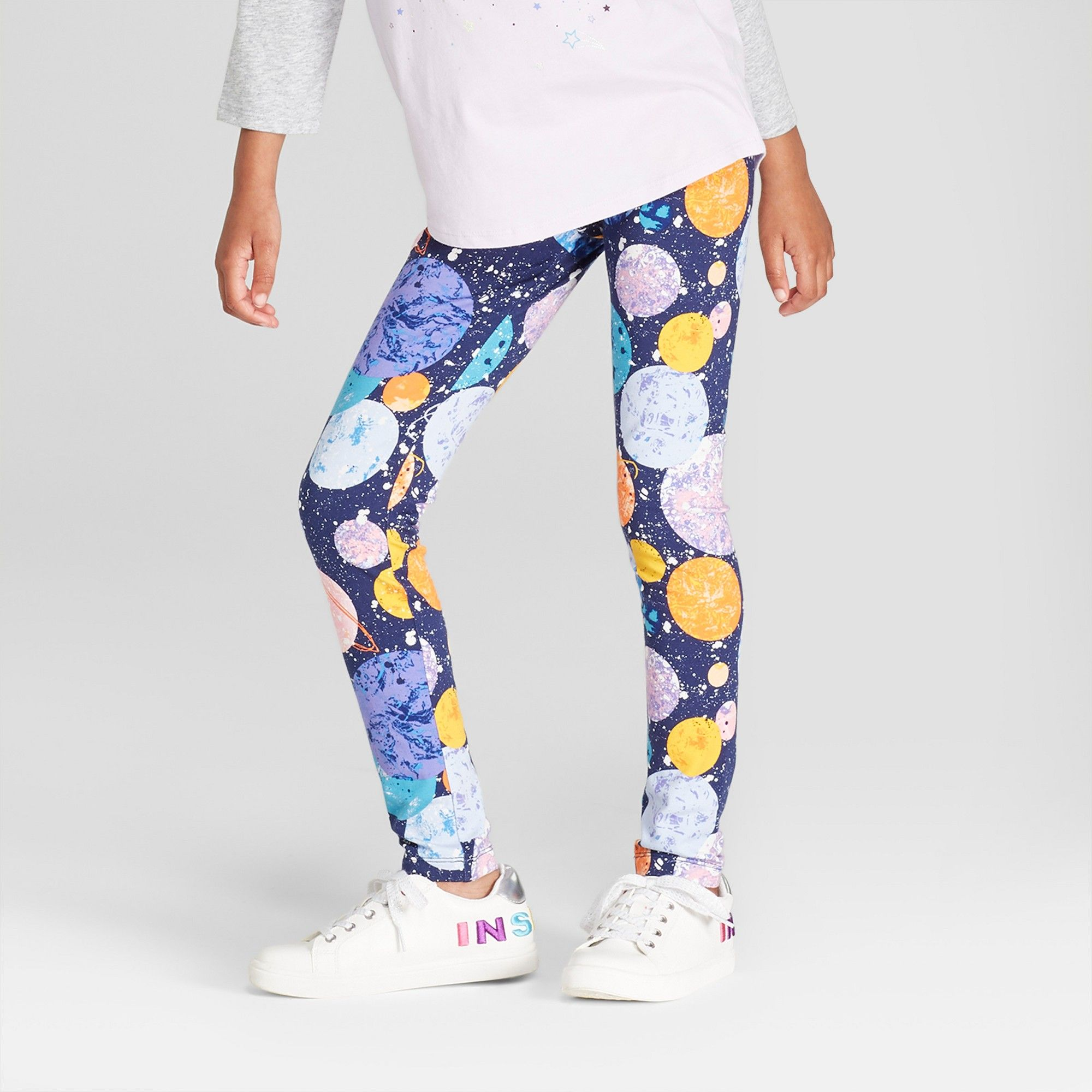 06fbb5c0550 Girls  Planet Print Leggings - Cat   Jack Navy Xxl