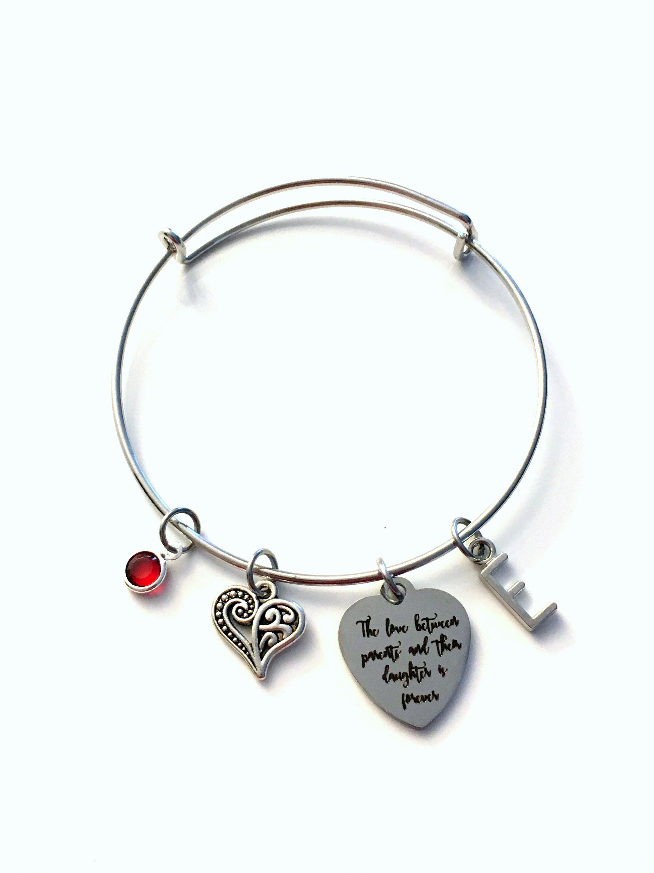 Pretty Mother Heart Stainless Steel Expandable Bangle Bracelet