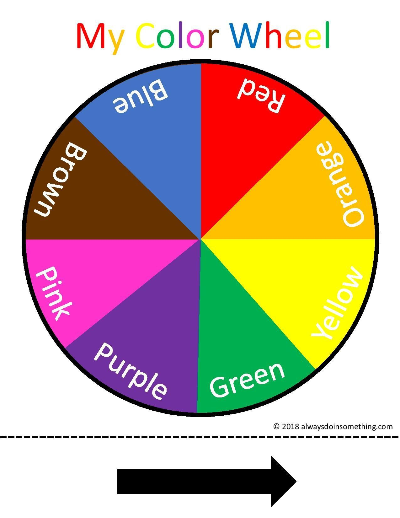 Readable Color Wheel Worksheet