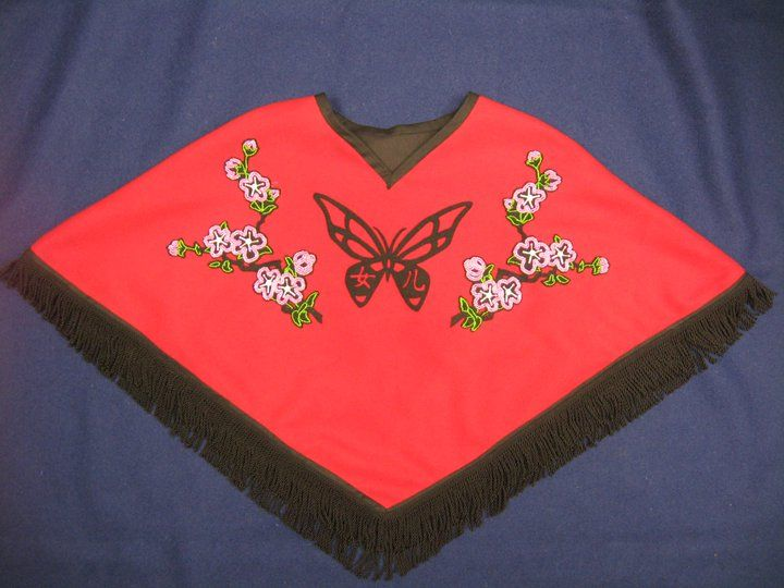 Melton Shawl Made For My Daughter Butterfly With The Chinese Symbol