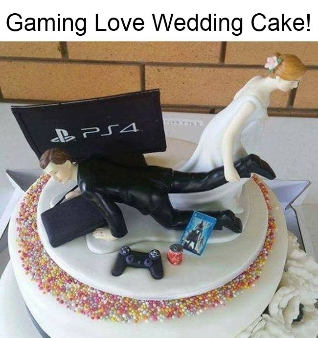 Video Game Wedding Ideas: Wedding Cake, Gaming Love, Cake Top Designs, PS4 Wedding