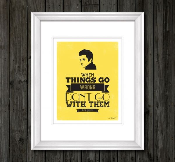 Elvis Presley Typography Art Print, with quote: \