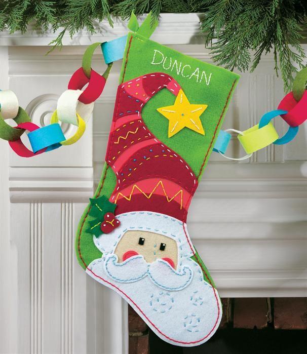 Stocking fieltro stockings Pinterest Xmas, Felting and Felt