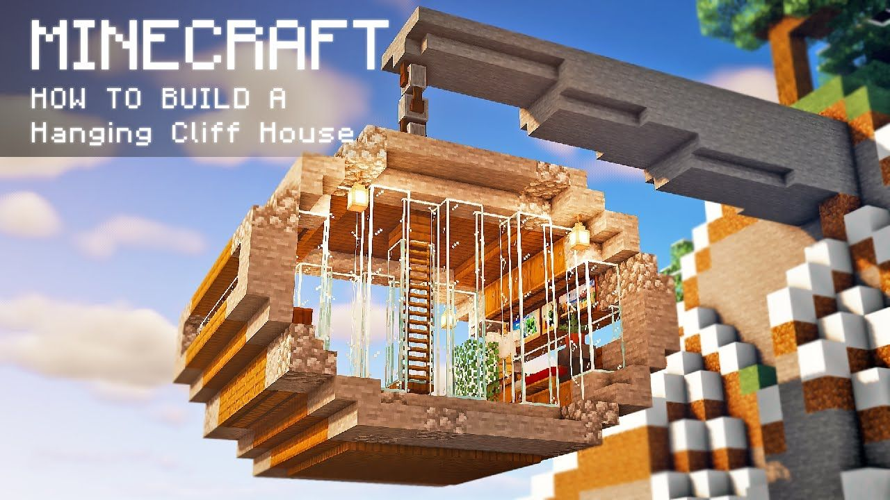 Minecraft  How To Build A Hanging House With Everything You Need To Survival