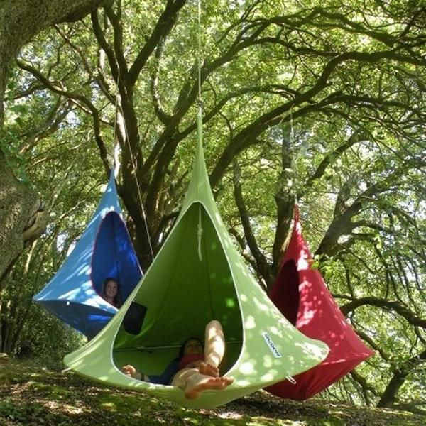 Charming Double Cacoon Hammock: Leaf Green Nice Look