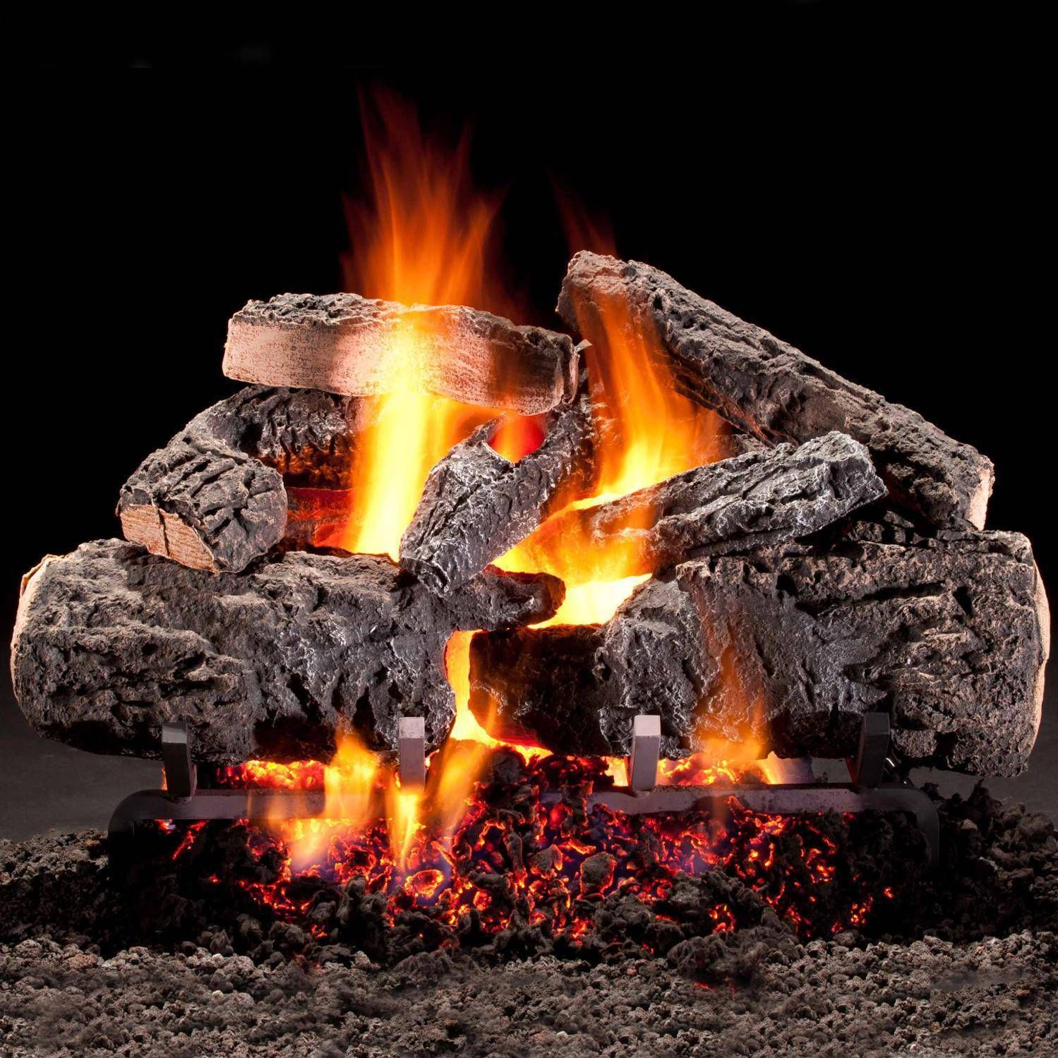 Hargrove 21 Inch Cross Timbers Vented Propane Log Set With E Burner Manual Safety Pilot W Wireless On Off Wall Switch Kit With Images Gas Fireplace Logs Gas Logs Vented Gas Fireplace
