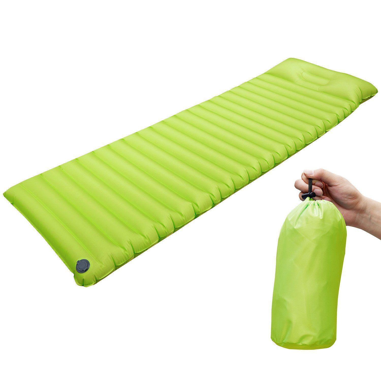 amazon com self inflating sleeping pad air mattress pad with