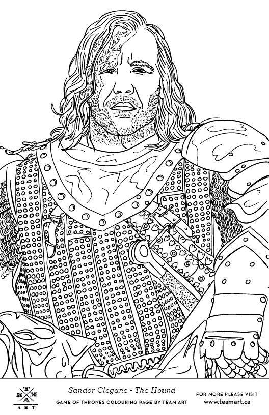 Game of Thrones Colouring in Page  White Walker  Colouring in