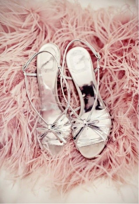 Wedding Ideas: silver-strappy-heels Dior
