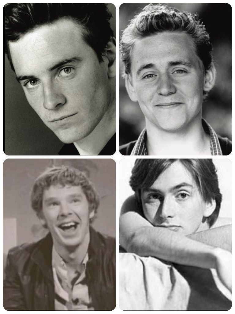 Baby Fassy, baby Hiddles, baby Cumberbatch and baby Tennant