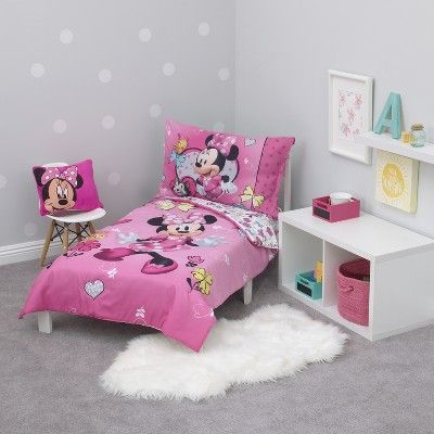 Mickey Mouse & Friends Minnie Mouse Toddler 4pc Bedding Sets in 2019 ...