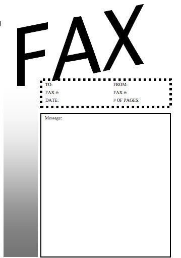This basic black-and-white printable fax cover sheet has the word - blank fax cover sheet template