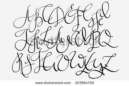 Handwritten Pointed Pen Flourish Font Capital Letters Made With Ink Modern Callig Modern Calligraphy Alphabet Fountain Pens Calligraphy Calligraphy Alphabet