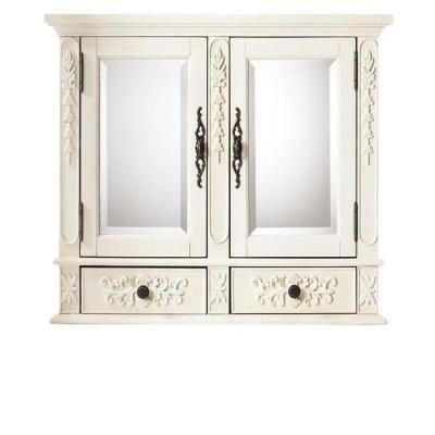 Home Decorators Collection Winslow 32 In W Double Mirrored Wall