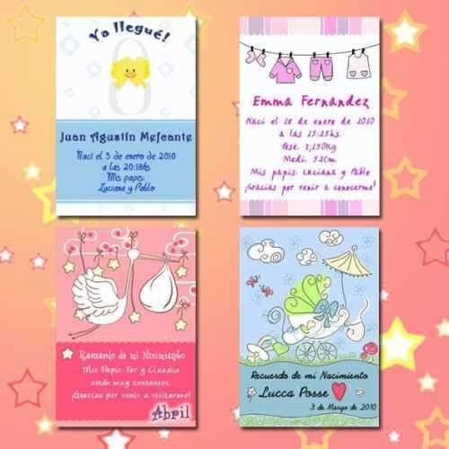 Tarjetas para souvenirs de nacimiento - Imagui Ideas Cumple