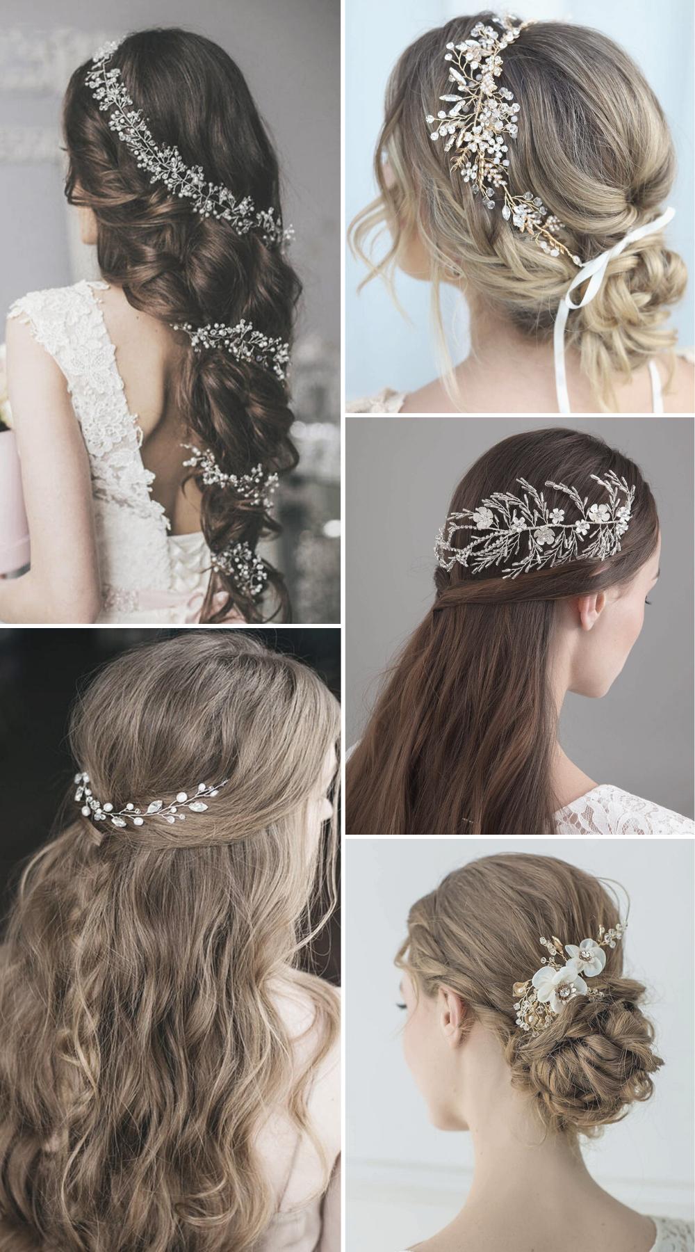 35 Glamorous Bride Wedding Hairstyle Accessories Ideas Tips Wedding Ideas In 2020 Bohemian Wedding Hair Wedding Hair Accessories Vintage Wedding Hair Accessories
