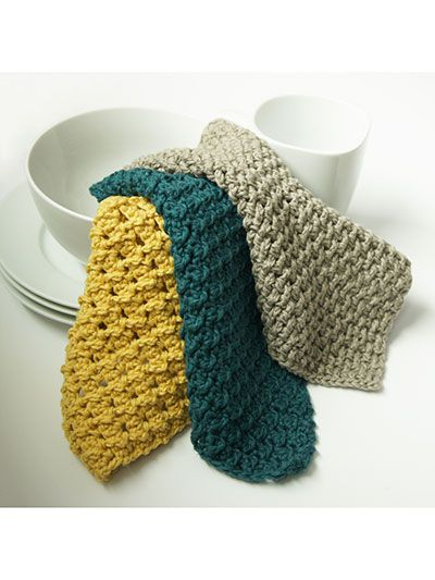Post Stitch Dishcloths - CROCHET - EASY - I love the look of these - very nice!  Think I'll try these.