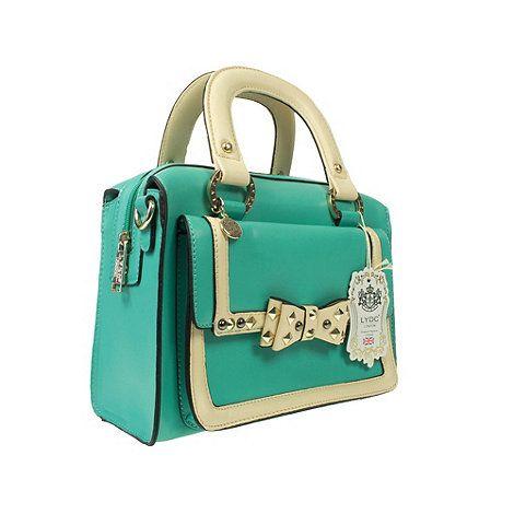 56b7227bcfb9 LYDC Turquoise Lydc The London Handbag- at Debenhams.com   Royal ...