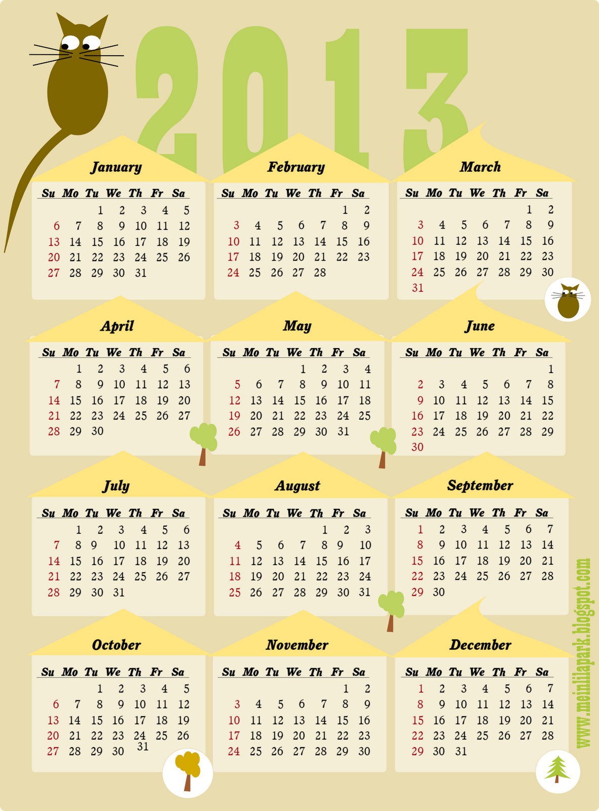Free Printable Yearly Calendar   Calendar  Whole Year At