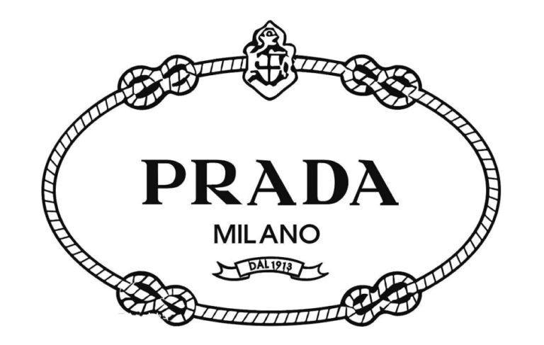 Meaning Prada logo and symbol | history and evolution | Luxury brand logo, Clothing brand logos, Prada