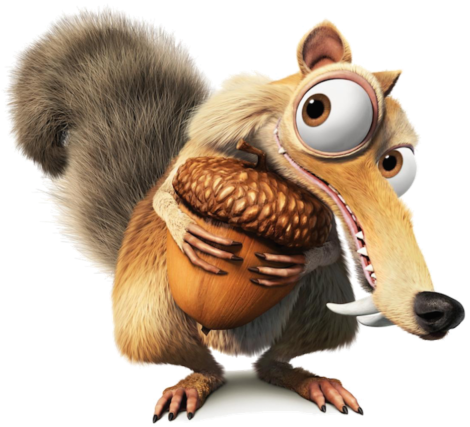 Scrat | Funny in 2019 | Ice age squirrel, Ice age, Cross