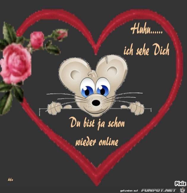 Ein Bild Füru0027s Herz U0027Du Bist Onlineu0027 Von Wurm. Eine Von