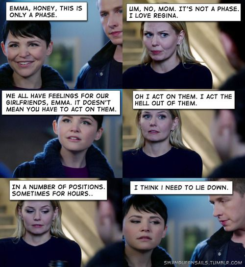 Swan Queen/OUAT-- Regina isn't a phase for Emma :D