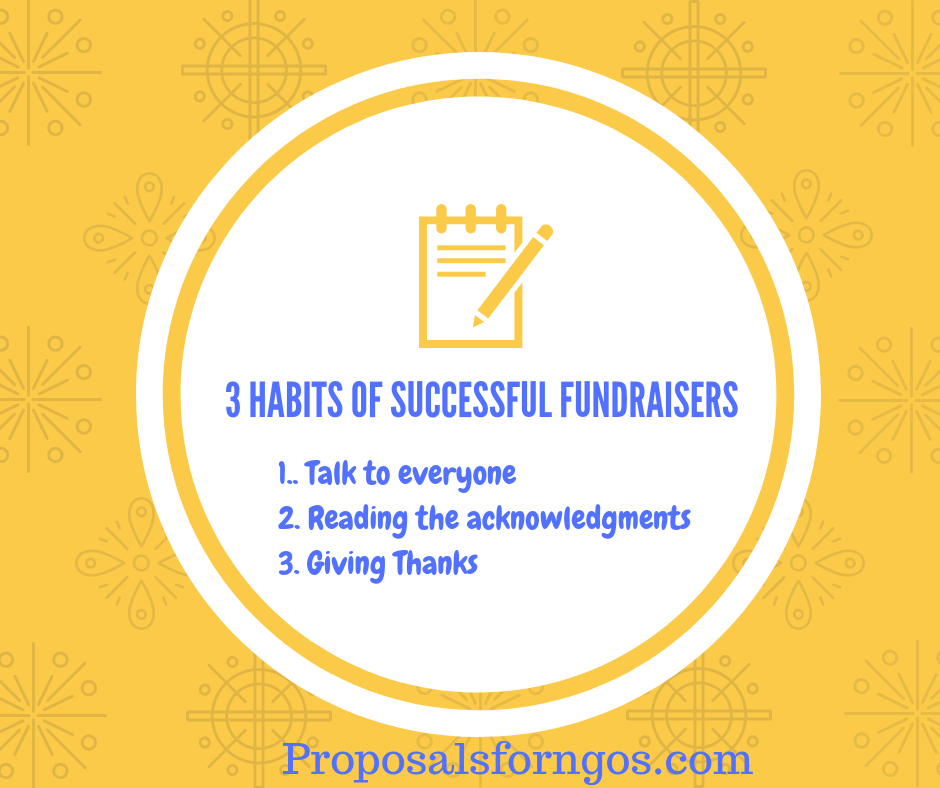 3 Habits Of Successful Fundraisers