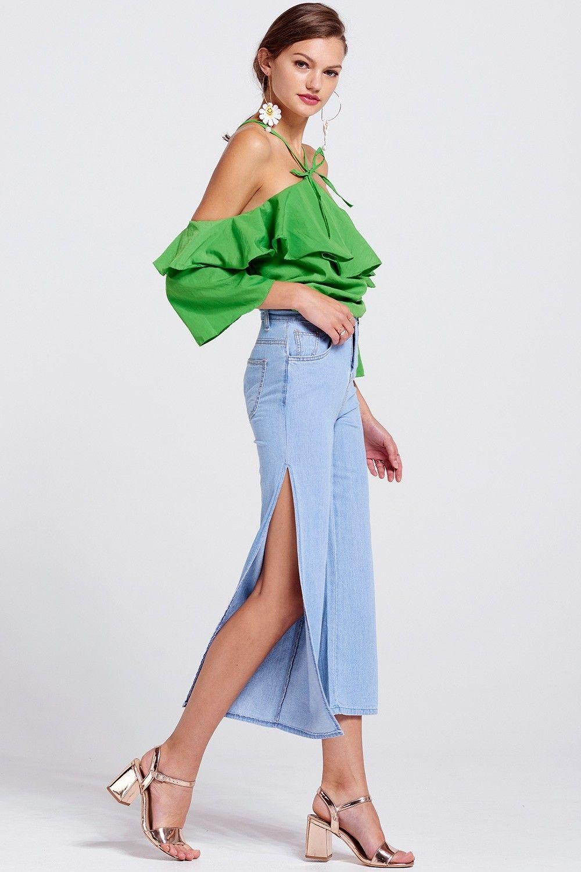 Tilda Side Slit Jeans Discover the latest fashion trends online at storets.com