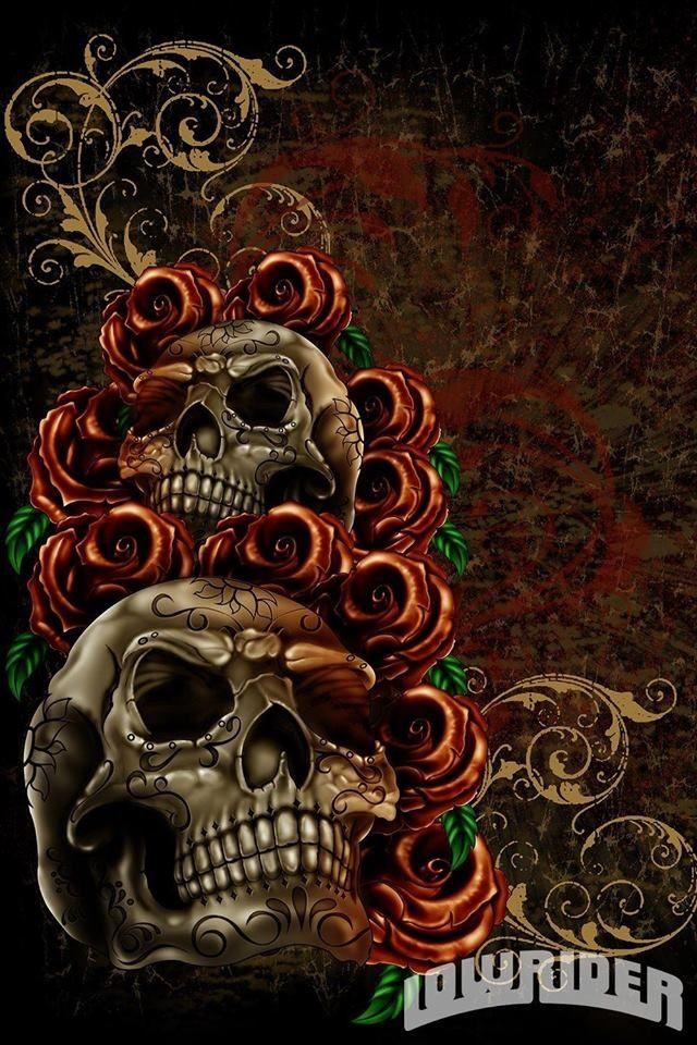 Skull Lowrider Arte Skull Art Drawing Skull Wallpaper Skull