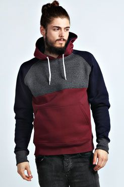 220cbd5a831a Colour Blocked Raglan Sleeve Hoody at boohoo.com Hoodie Outfit, Hoodie  Jacket, Pant
