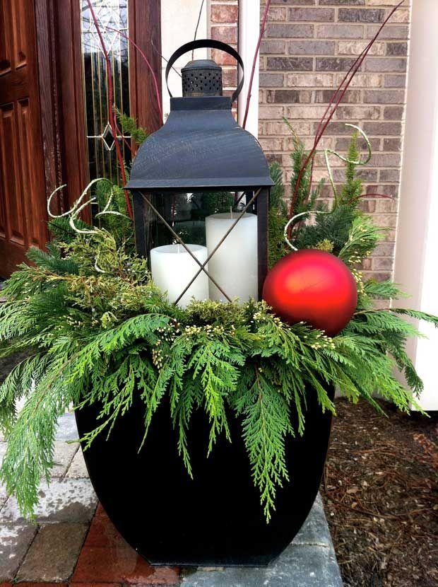 Lantern1 Landscaping Pinterest Navidad, Decoracion navidad y - Decoracion Navidea Para Exteriores De Casas