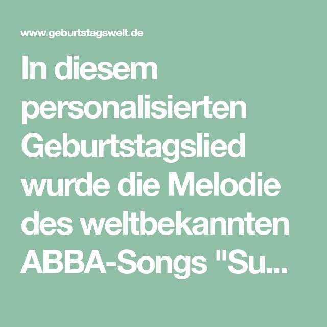 Super Trouper Geburtstagslied Geburtstagswelt Geburtstagslieder Geburtstag Lieder Abba
