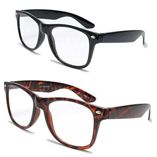 daa0f956a3ca 2 Pairs Deluxe Wayfarer Style Reading Glasses Comfortable Stylish Simple  Readers Rx Magnification (1 tortoise 1 black 1.25 x)