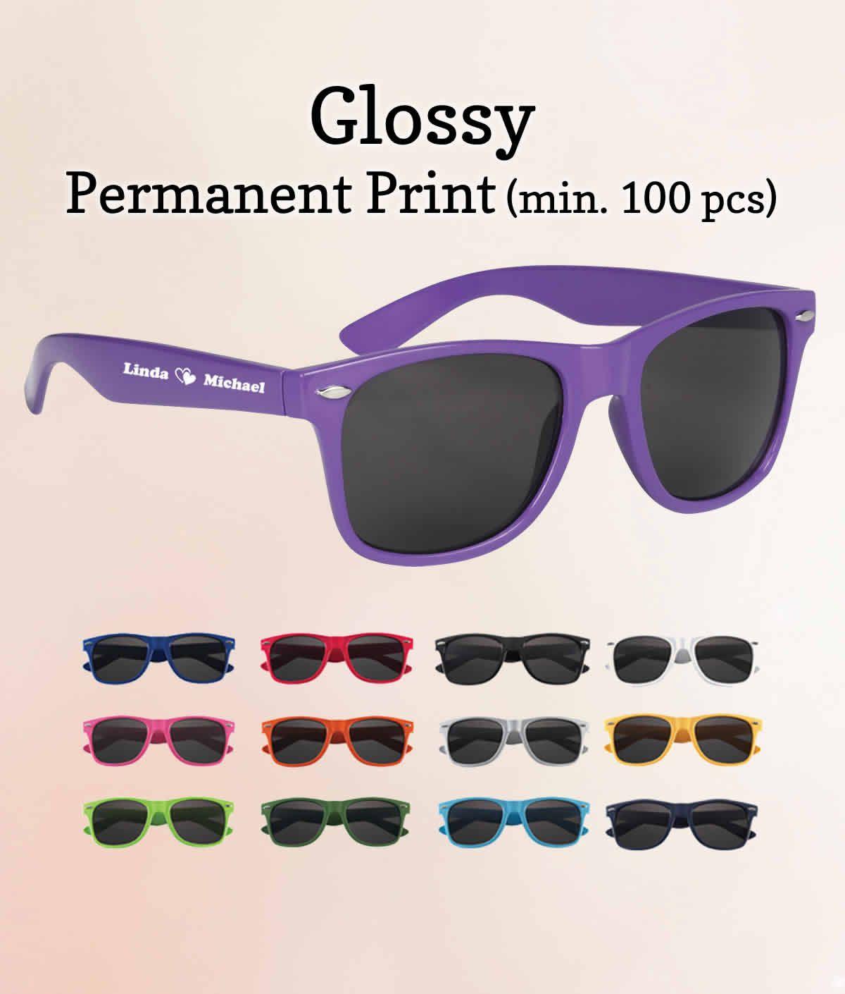 Personalized Wedding Sunglasses Glossy FREE Proofs