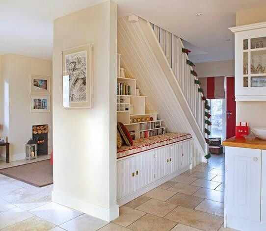 Under Stairs Storage Stairs In Living Room Open Plan Kitchen Living Room Open Stairs