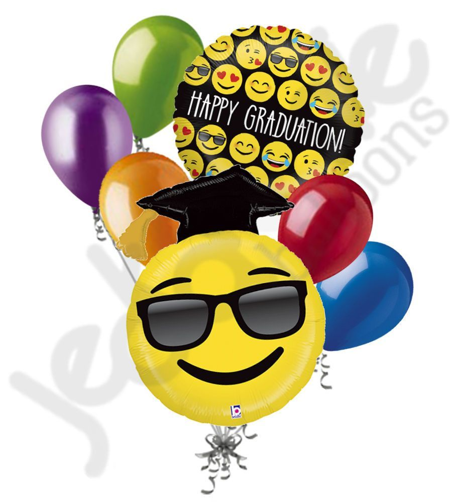 Cool emoji happy graduation balloon bouquet emoji and smileys cool emoji happy graduation balloon bouquet biocorpaavc Images