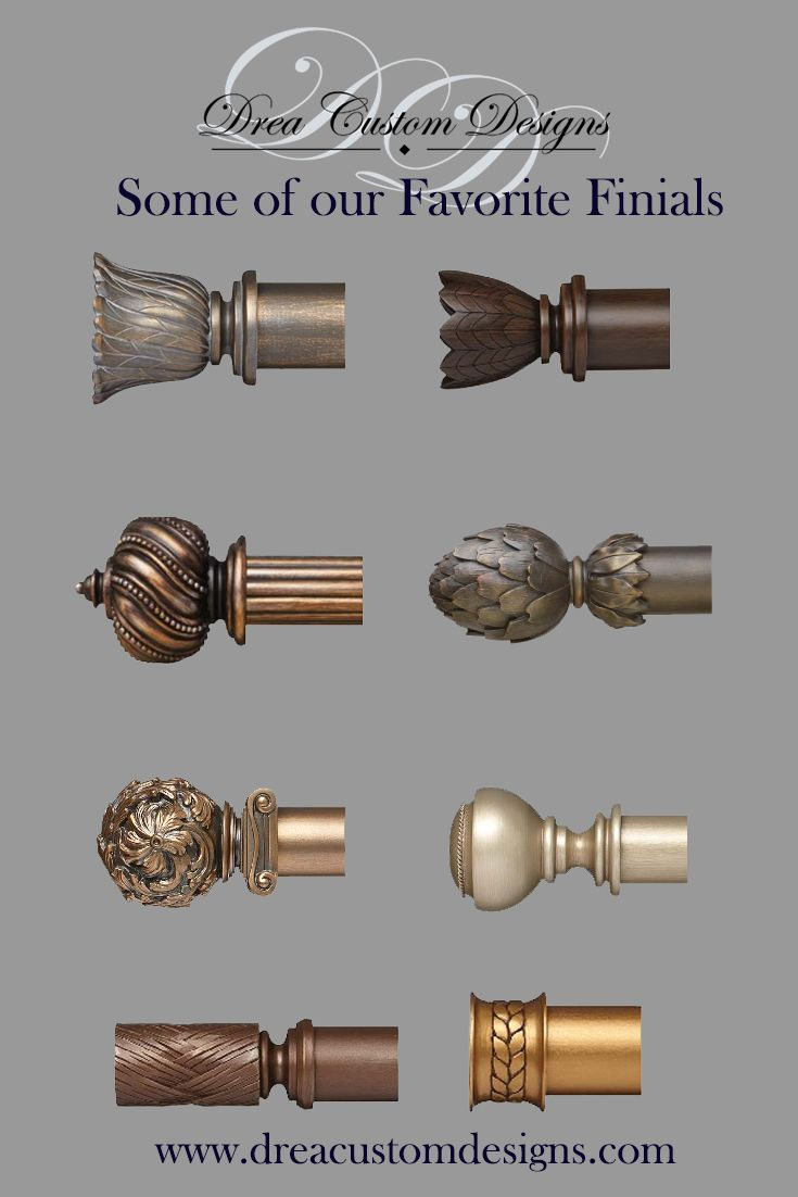 some of our favorite drapery finials we love the intricate designs perfect compliment to