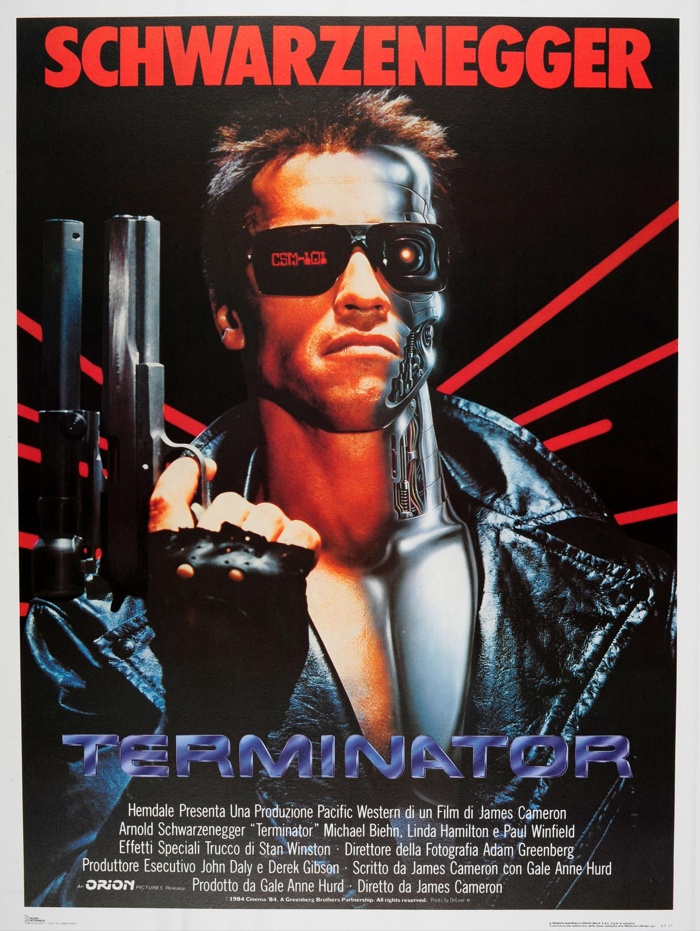 Poster Arnold Schwarzenegger The Terminator 1984 S
