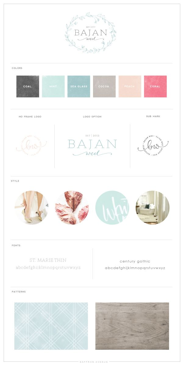 Logo + Blog Design :: Bajan Wed - Saffron Avenue : Saffron Avenue #saffronavenue