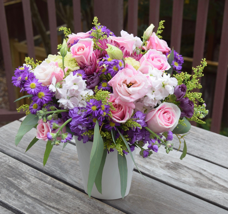 Wild meadow like flower bouquet in a vase. Flower
